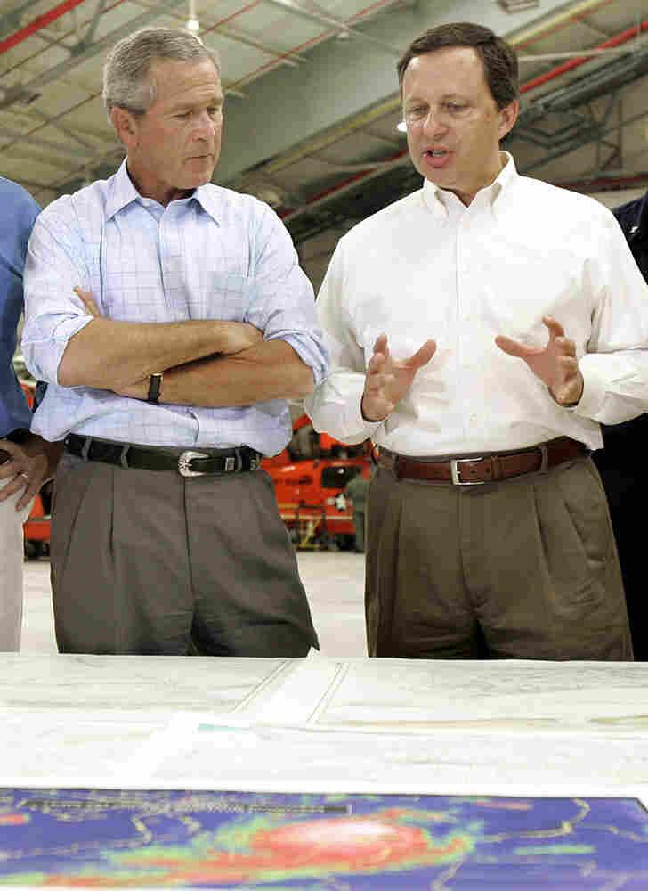 George W. Bush and Michael Brown discuss FEMA's Hurricane Katrina response.