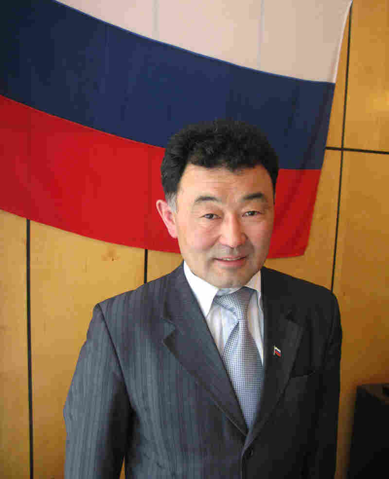 Valery Pintayev, Baikalsk's mayor and a former employee of the paper mill