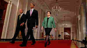 Vice President Joe Biden, President Obama and Solicitor General Elena Kagan.