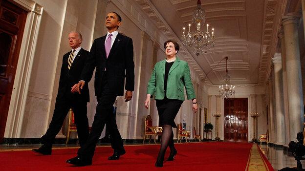 Vice President Biden, President Obama and Solicitor General Elena Kagan