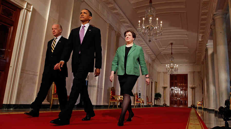 Vice President Biden, President Obama and Solicitor General Elena Kagan