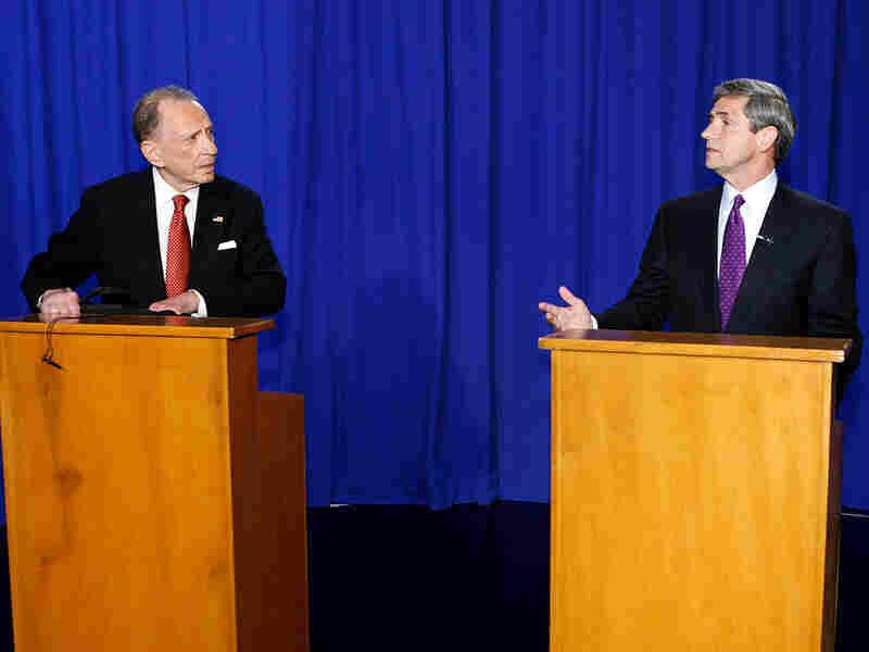 Arlen Specter and Rep. Joe Sestak debate in Philadelphia