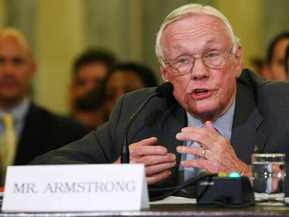 Neil Armstrong testifies at Senate hearing