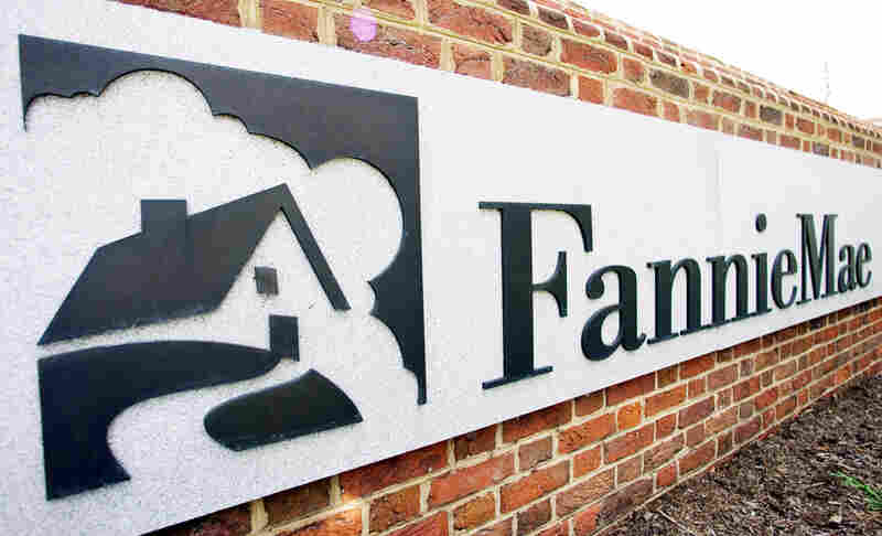 A sign in front of the Fannie Mae headquarters in Washington.