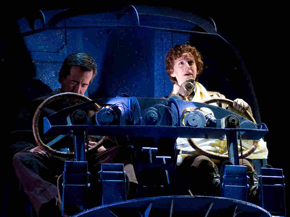 """A scene from the new opera """"Amelia"""" by Daron Aric Hagen at the Seattle Opera."""