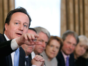 PM Cameron at Cabinet meeting