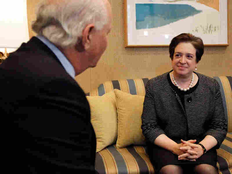 Supreme Court nominee Elena Kagan meets with Sen. Benjamin Cardin.