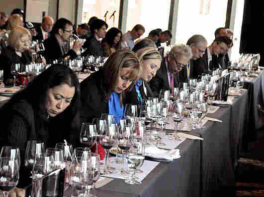Wine connoisseurs at the Berling Tasting in New York