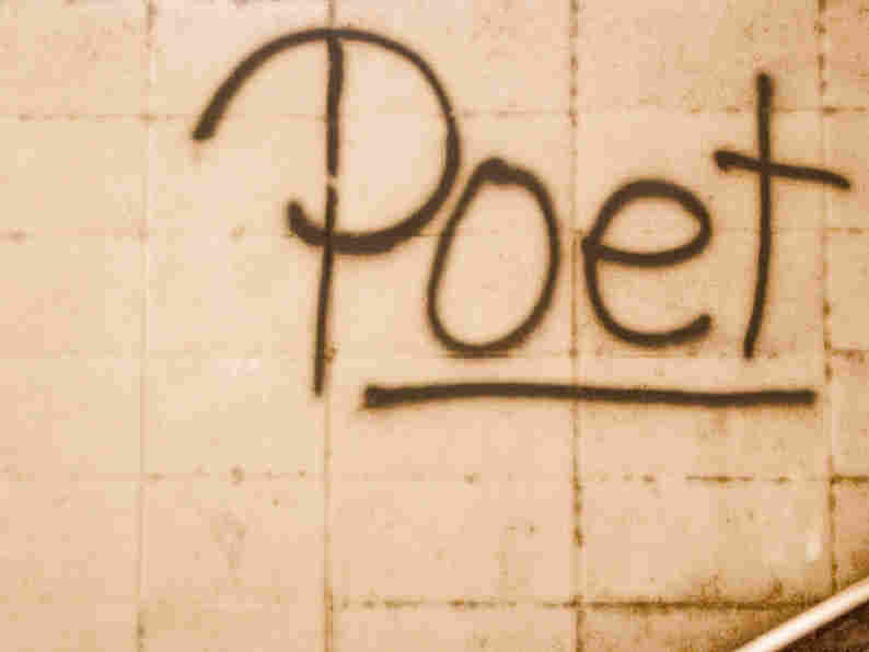 "Wall with the word ""Poet"" scrawled on it. iStockphoto.com"