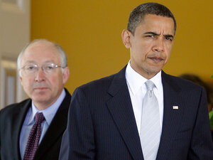 President Obama with Interior Secretary Ken Salazar