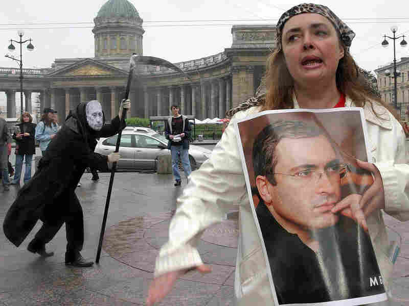 Opposition activists in Saint Petersburg in 2005. Sergei Kulikov/AFP/Getty Images