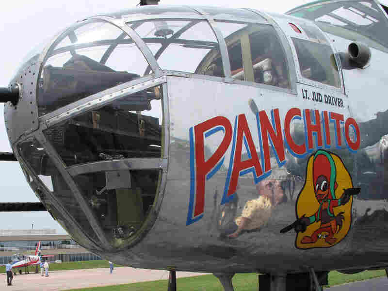 """Panchito,"" a World War II-era B-25 bomber. Gemma Watters/NPR."