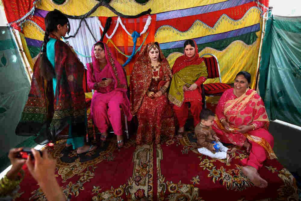 Bride Rukhsana Gul during her wedding ceremony.