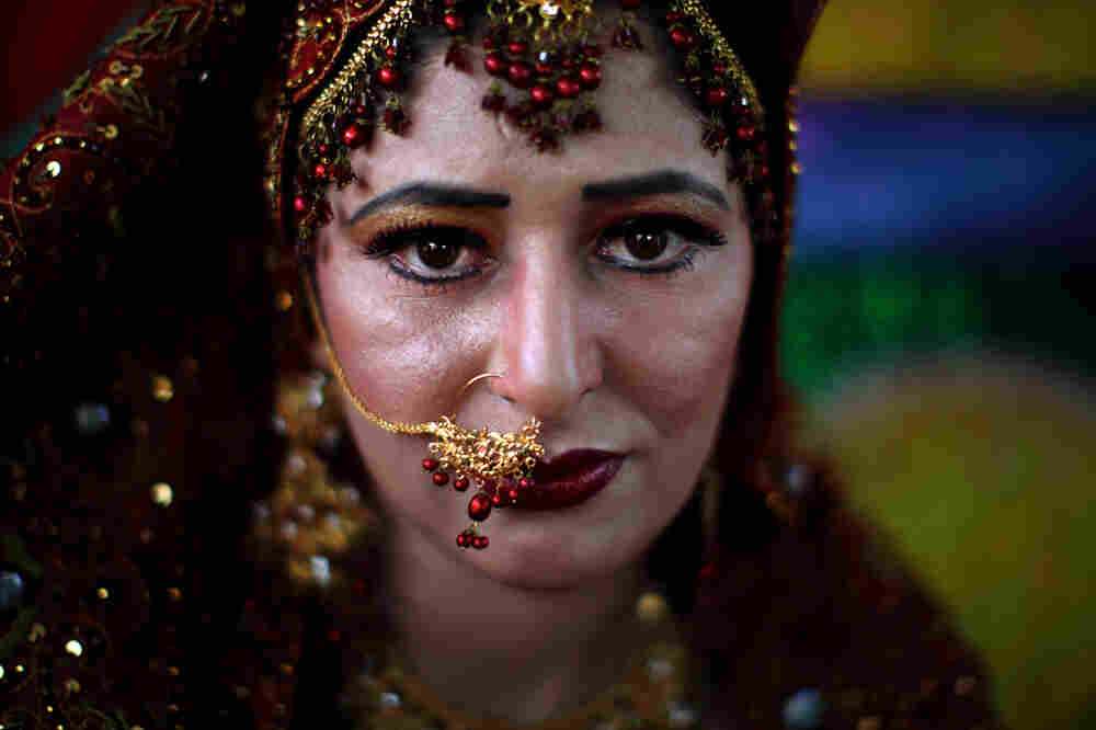 A Pakistani bride with nose ring.