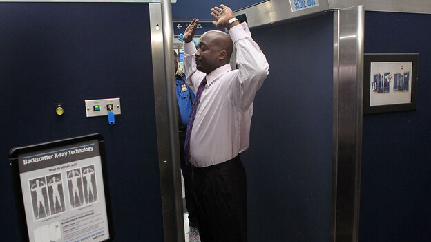 More airports are using backscatter scanners like this one at O'Hare International Airport. And that's making some people mad. (Getty Images)