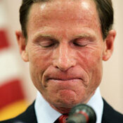 Connecticut Attorney General Richard Blumenthal, a candidate for U.S. Senate