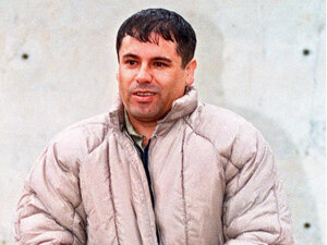 "Mexican drug lord Joaquin ""El Chapo"" Guzman of the Sinaloa cartel"