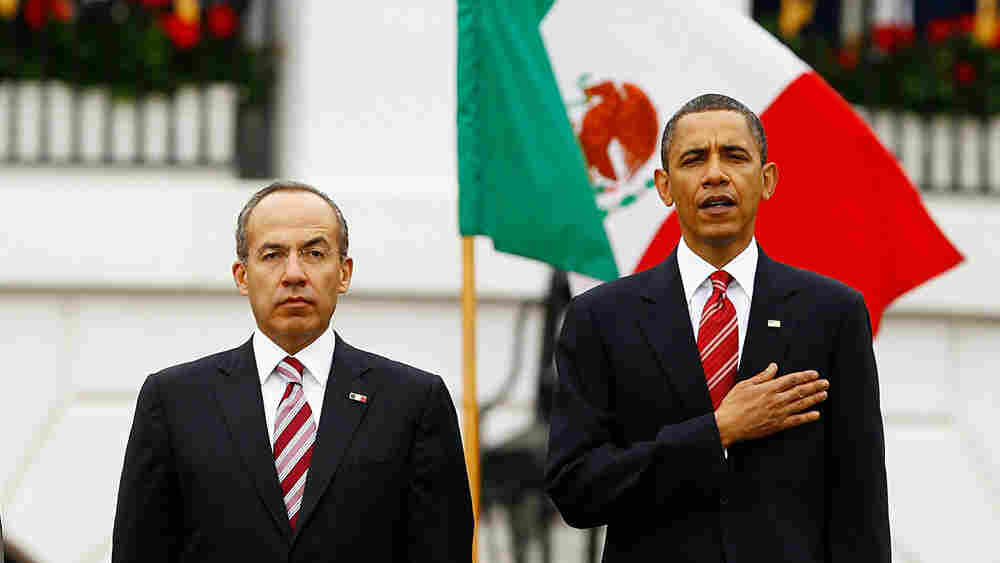 Mexican President Felipe Calderon and President Obama
