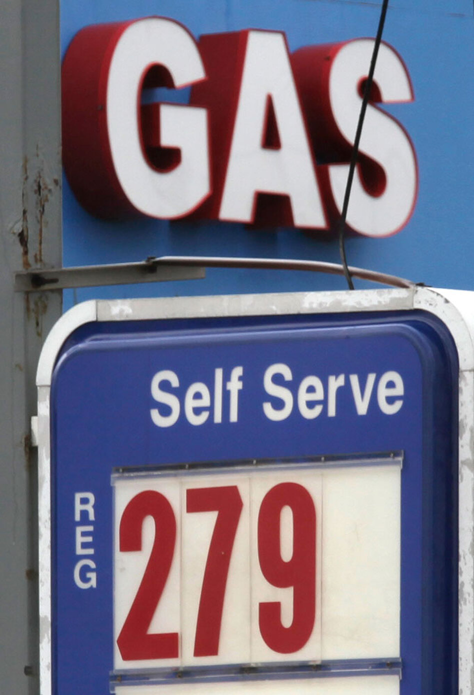 Gasoline prices dropped 2.4 percent in April. Analysts said they expect further declines amid a sharp drop in crude oil prices.