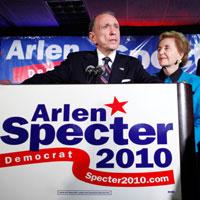 Sen. Arlen Specter, D-Pa., gives his concession speech