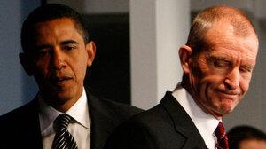 President Obama and Dennis Blair, January 2009