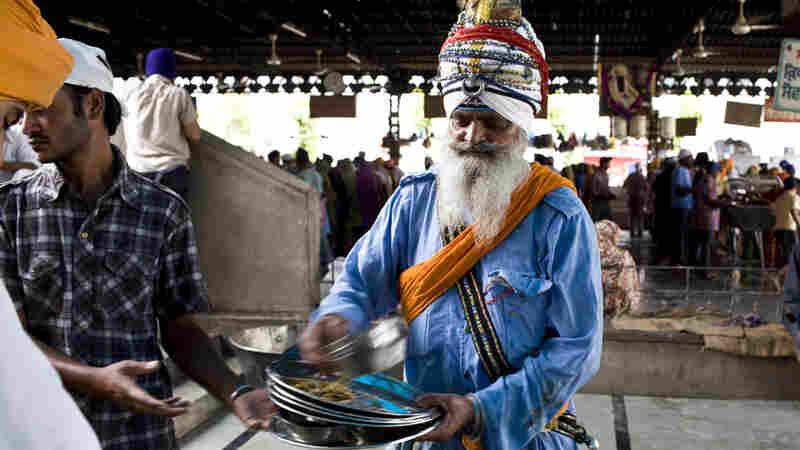 A Sikh holy man