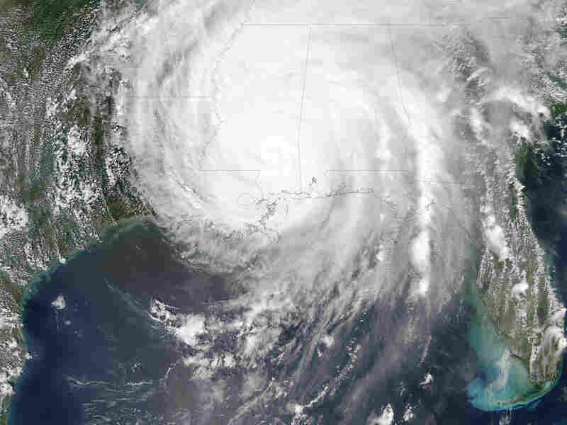 Hurricane Katrina was sprawled across all or part of 16 states on Aug. 29, 2005.