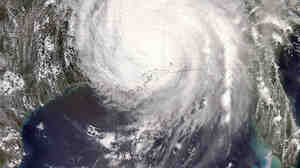 Hurricane Katrina was sprawled across all or part of 16 states on Aug. 29, 2005.