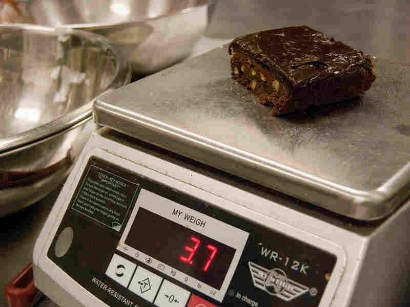Weighing a brownie. May-Ying Lam/NPR