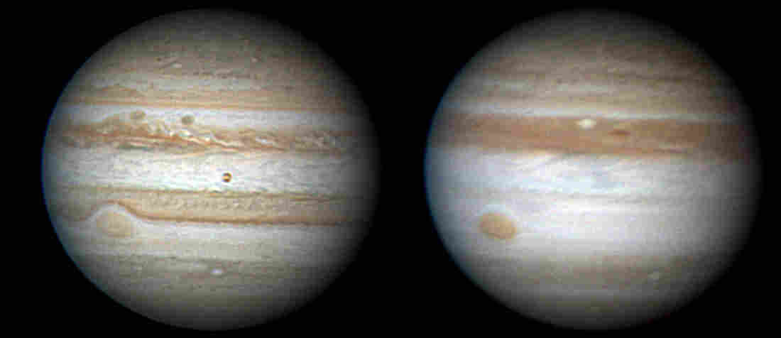 Jupiter in June 2009 and May 2010