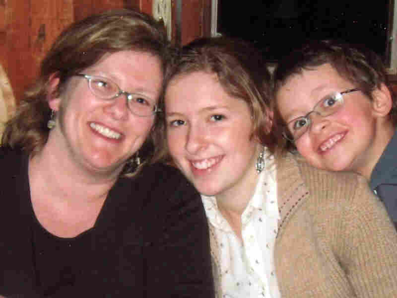 Missy Nicholson pictured with her two children.