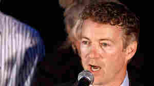 Republican Senate candidate Rand Paul addresses supporters in Kentucky last week.