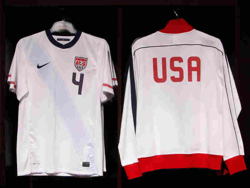 The uniforms for the U.S. men's national soccer team.