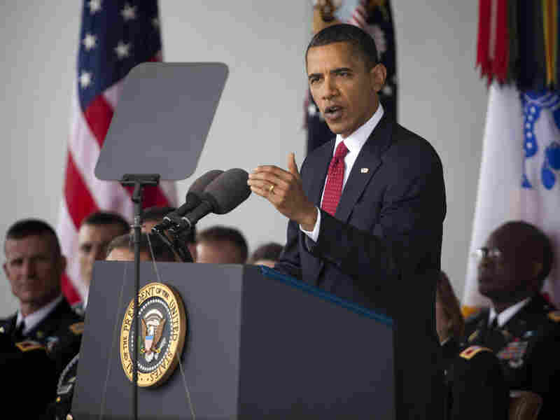 President Obama gives the commencement speech at West Point, May 22.