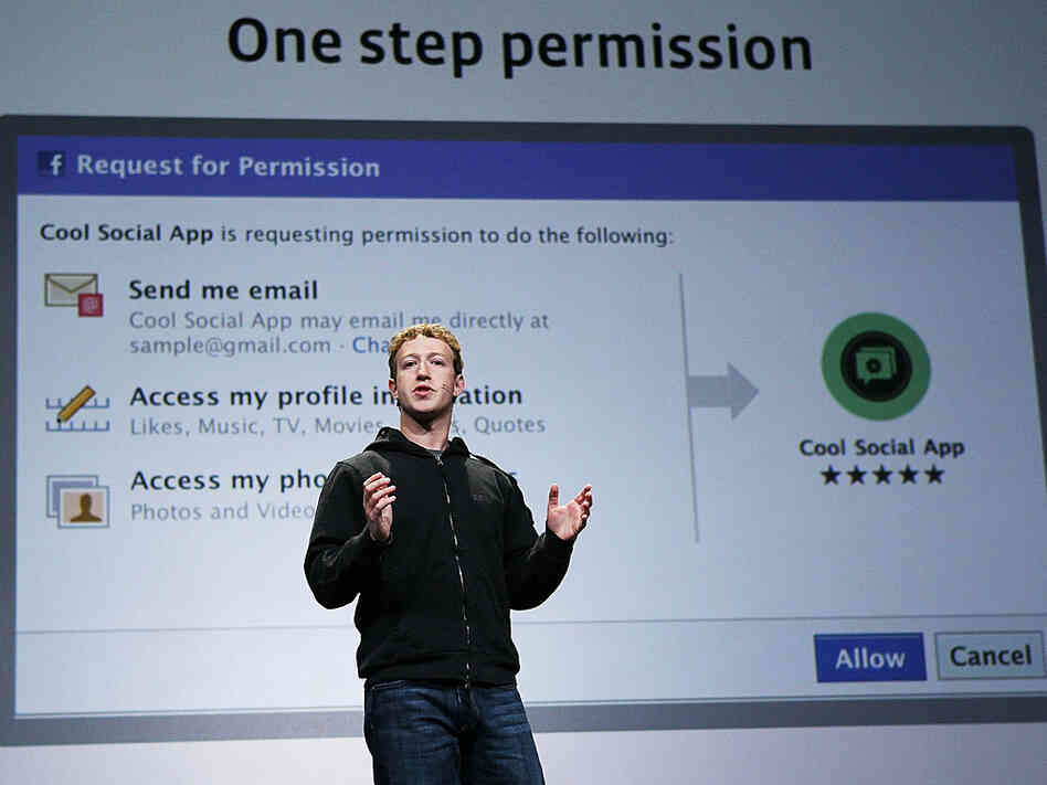 Facebook CEO Mark Zuckerberg delivers a keynote address in San Francisco in April.