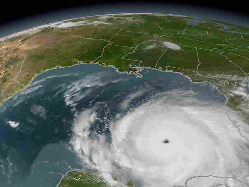 Hurricane Rita strengthening in the Gulf of Mexico on Sept. 21, 2005.