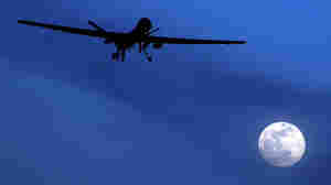 A U.S. Predator drone flies above Kandahar Air Field in southern Afghanistan.
