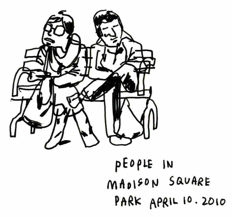 People in Madison Square Park