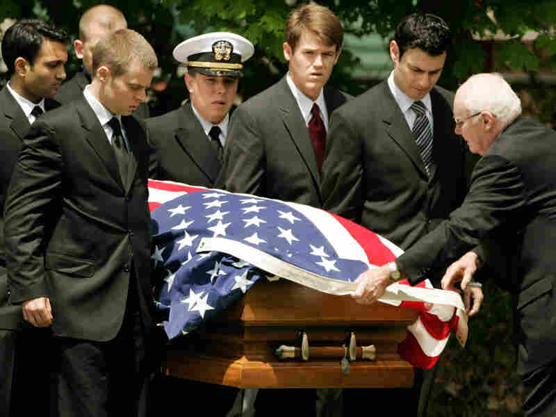 Casket of U.S. Army First Lieutenant Andrew Bacevich
