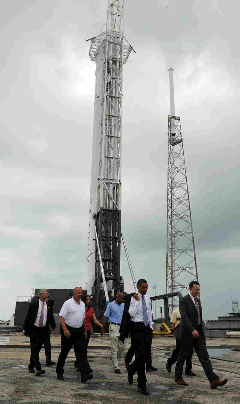 President Obama tours the SpaceX launch pad at the Kennedy Space Center in Cape Canaveral, Fla.