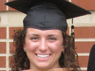 Melanie Singer on graduation day from the University of Dayton.