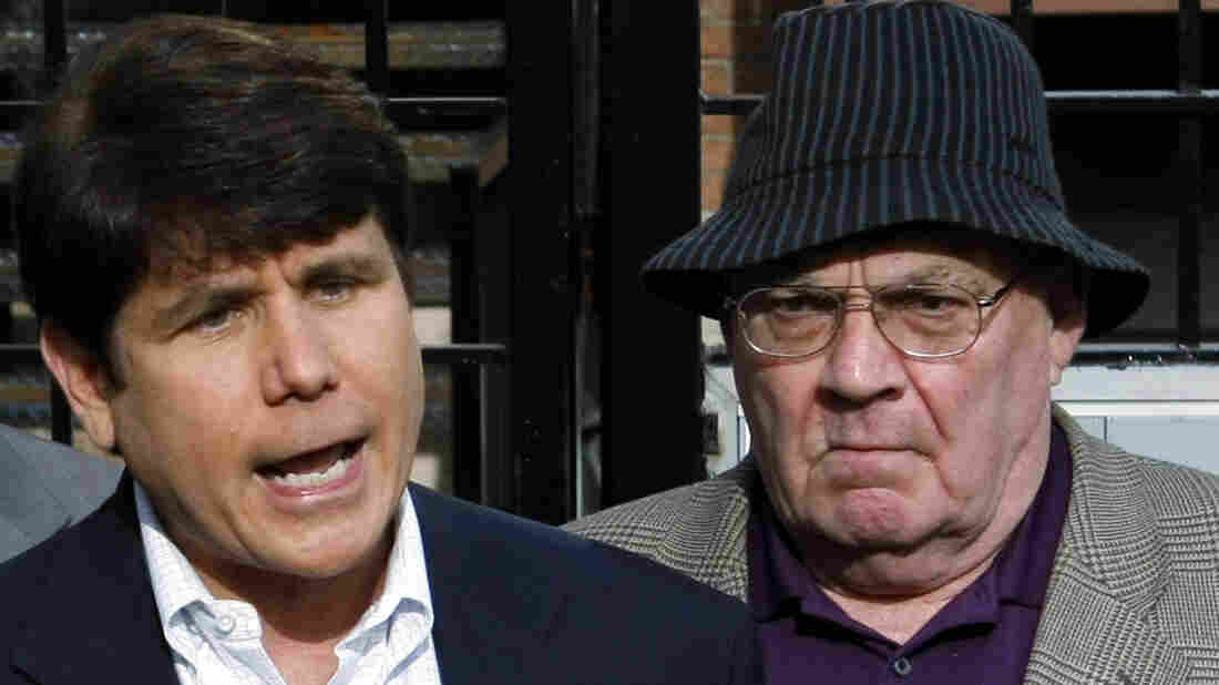 Former Illinois Gov. Blagojevich at an April news conference.