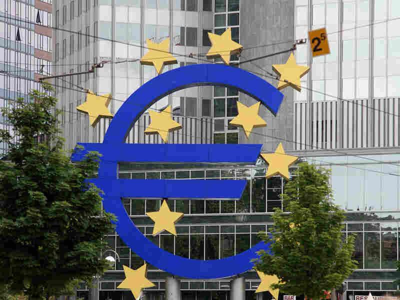 A giant euro symbol