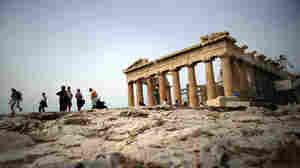 Tourists visit the Acropolis in Athens