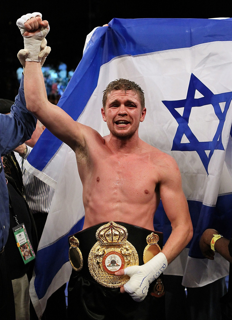 The Israeli flag provided a fitting backdrop for Foreman's championship celebration last November.
