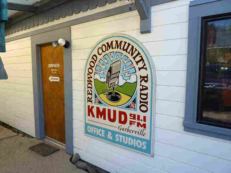 The offices of KMUD, part of the Redwood Community Radio network.