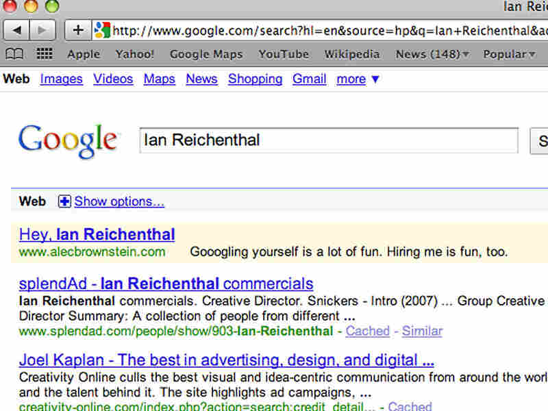Alec Brownstein's Google ad 2