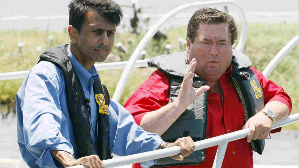 Louisiana Governor Bobby Jindal with Billy Nungesser