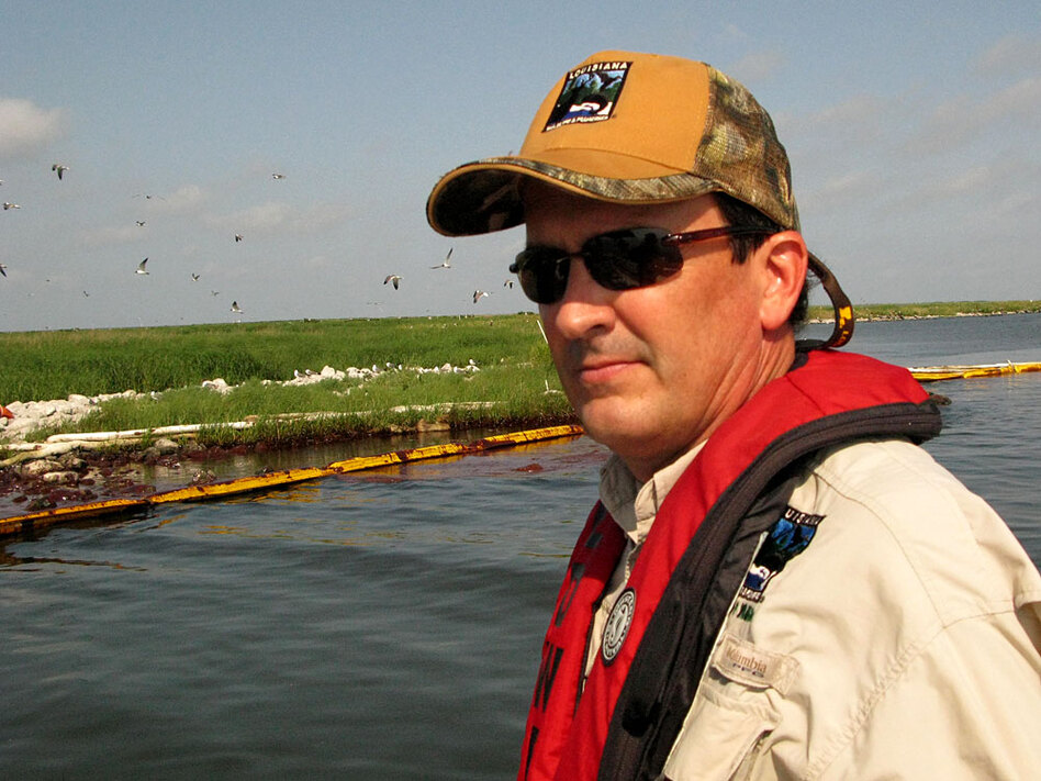 Michael Carloss was a surrogate parent for pelicans more than 30 years ago.
