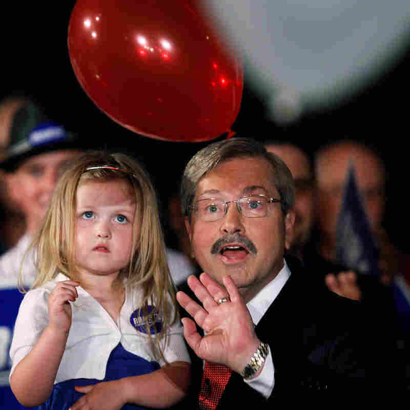 Former Iowa governor, and now 2010 GOP gubernatorial nominee, Terry Branstad and grandaughter